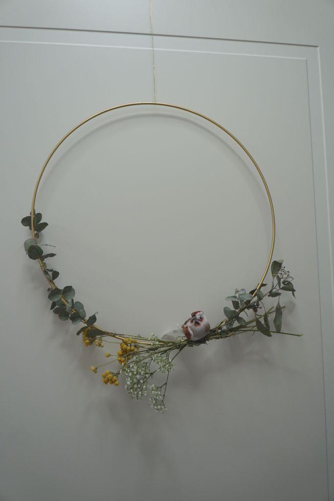 Frühlingsdeko mit Trockenblumen